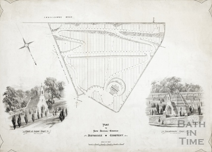 Plan of New Burial Ground, Bathwick Cemetery (Smallcombe) c.1855