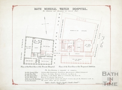 Bath Mineral Water Hospital - extension (copy of #57) 1858?