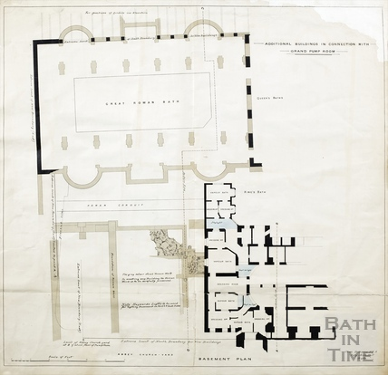 Additional buildings in connection with Grand Pump Room (basement plan) - Plan 1 1880?