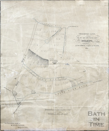 Freehold land at Lyncombe for sale or let (Buttash Cottage - between Lyncombe Hill & Prior Park Road, below Perrymead) 1851