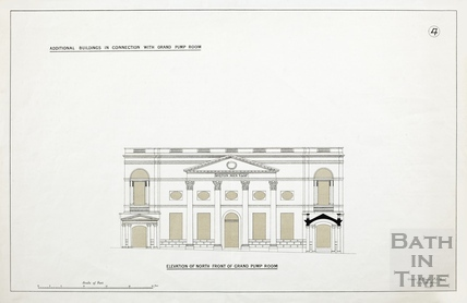 Additional buildings in connection with Grand Pump Room (elevation of north front of Grand Pump Room) - Plan 4 1880?