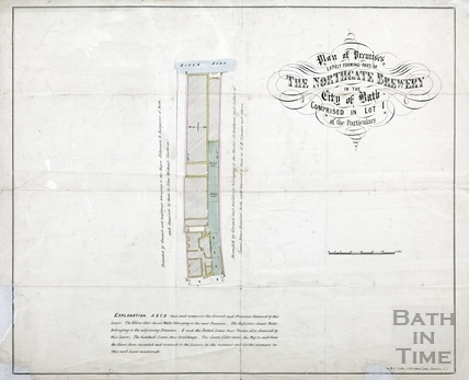 Plan of the premises lately forming Northgate Brewery - Lot 1 early 1800s