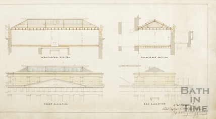 A new room at the Literary and Scientific Institute (2 plans, 2 sections, 2 elevations) (BRLSI) - Charles W Dymond 7th August 1889