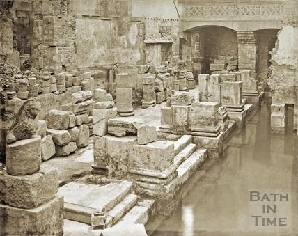 Albumen photo of Great Bath c.1890