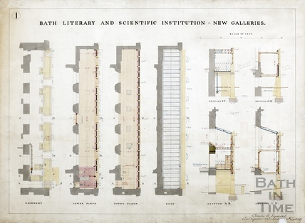 The new (side) galleries (sections and elevations) (BRLSI) Charles W Dymond 9th Sept 1889 Plan 1
