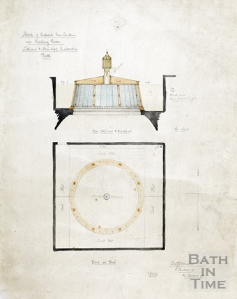 Sketch of proposed new lantern over reading room (section & elevation with plan of roof) (BRLSI) 29 April 1879