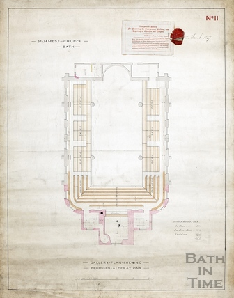 Gallery plan of St James Church proposed alterations - Plan. no.11 - Manners & Gill December 1846