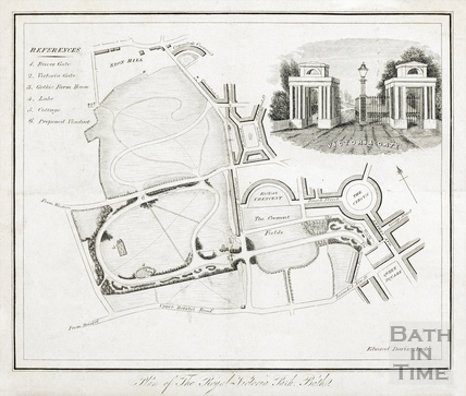 Plan of the Royal Victoria Park, Bath - Edward Davies 1837