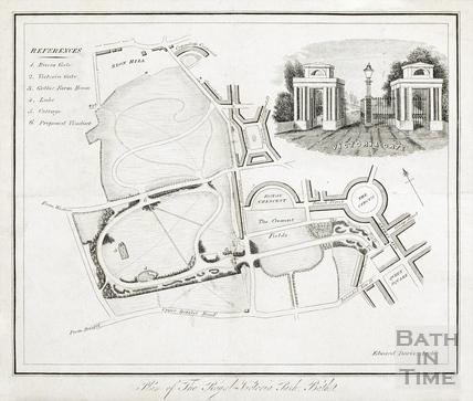 Plan of the Royal Victoria Park, Bath - Edward Davies 1837