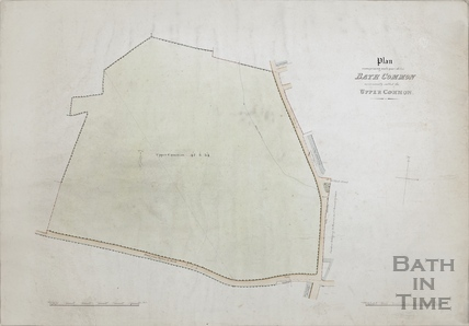 Plan of Upper Bath Common with springs c.1820s?