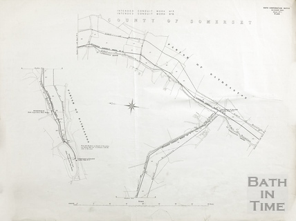 Bath Corporation Water - intended conduit work no. 7 & 9 (middle St Catherine's Brook) - Sheet no.3 1903