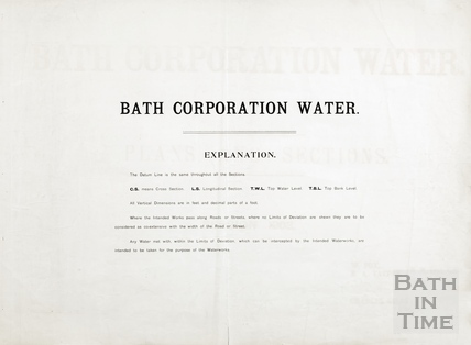 Bath Corporation Water - explanation (of application for works) - cover sheet 1903