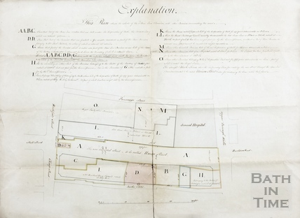 Plan for the rebuilding of the Bear Inn and premises to create Union Street - Phillott & Lawton c.1795?