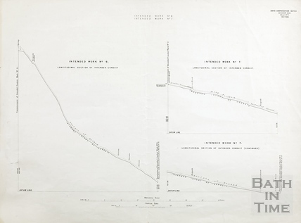 Bath Corporation Water - intended work no. 6 & 7 - intended conduit commencement & junctions with work no.9 - Sheet no.9 1903