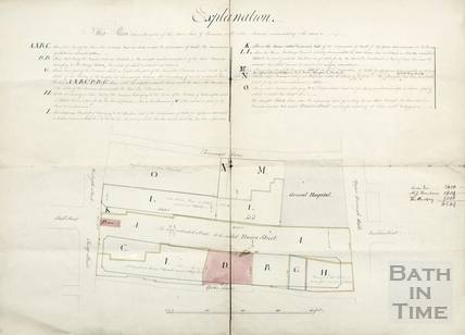 Plan for the rebuilding of the Bear Inn and premises to create Union Street - Phillott & Lawton (1795?)