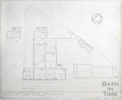 Weston St John's Infant School - plan of buildings and grounds 9th May 1966