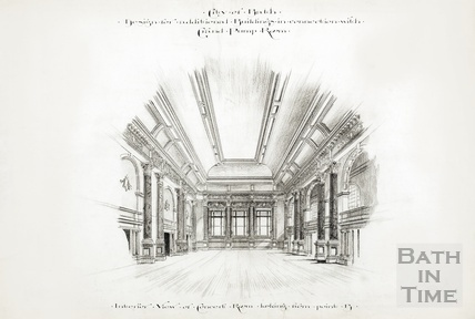 Design for additional buildings in connection with Grand Pump Room - interior view of concert room 1894
