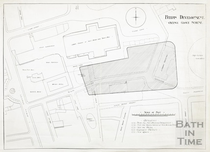 Baths development - Orange Grove scheme, block plan - A J Taylor architect 28 January 1913