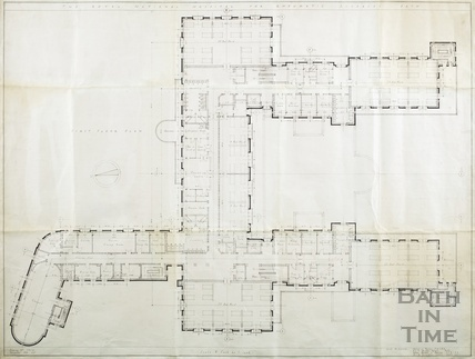 Proposed new building RNHRD (Mineral Water Hospital) - 1st floor plan - drawing no.1034/41 December 1938