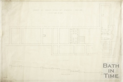 Survey of Roman Villa at Atworth (Wilts) - section & plan - AJ Taylor & AC Fare July 1938