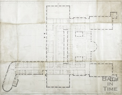 Proposed new building RNHRD (Mineral Water Hospital) - Ground floor plan - drawing no.1034/40, December 1938