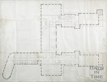 Proposed new building RNHRD (Mineral Water Hospital) - 2nd floor plan - drawing no.1034/42, November 1938