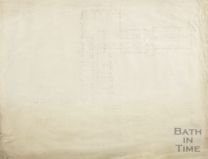 Proposed new building RNHRD (Mineral Water Hospital) - 1st floor plan - drawing no.1034/12, August 1938