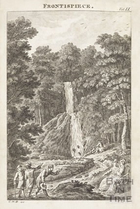 Hestercombe - Frontispiece image for Columella; or The Distressed Anchoret Vol II 1779
