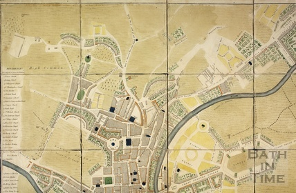 Detail of the planned Pulteney Estate and Bath City 1793