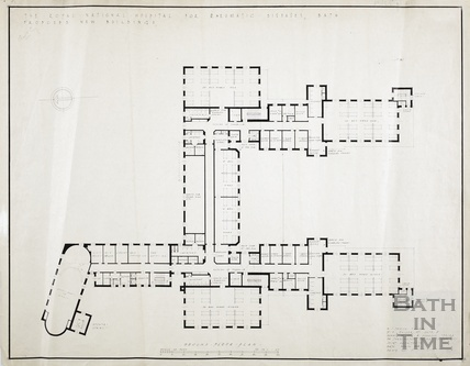 RNHRD (Mineral Water Hospital) proposed new buildings - 2nd floor - AJ Taylor April 1938