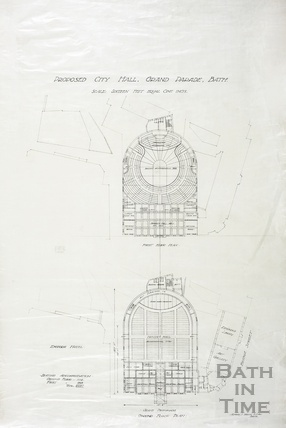 Proposed city (concert) hall, Grand Parade - first & ground floor - AJ Taylor 1930s
