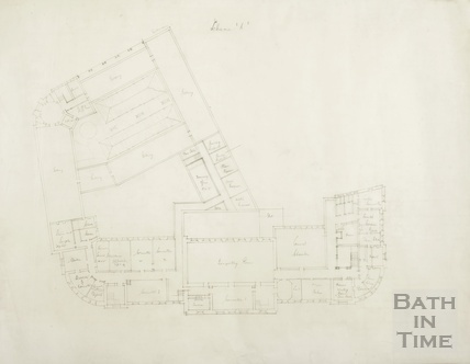 Scheme A - (Proposed extension to Municipal offices, libraries and art gallery (Guildhall) - first floor plan - AJ Taylor & AC Fare 1936