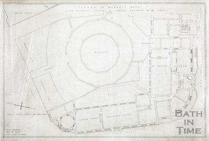 Survey of markets (Guildhall) (for Technical College & Library entrance see 1937 survey) - plan - 722/25 - AJ Taylor date unknown