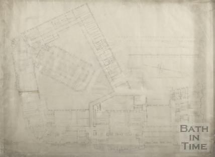 Proposed extension to Municipal offices, libraries and art gallery (Guildhall) - ground plan - AJ Taylor & AC Fare July 1936