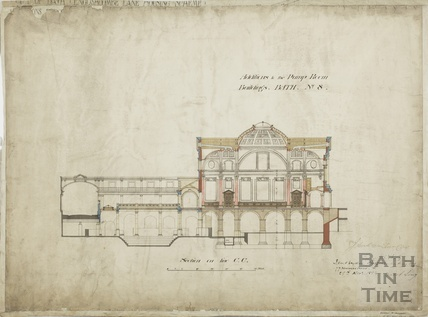 Additions to the Pump Room buildings, no.8 - section on line CC - JM Brydon 29 November 1894