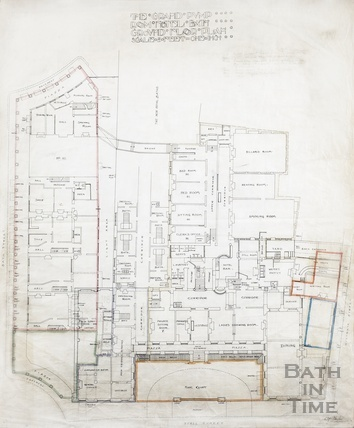 Grand Pump Room Hotel - ground floor plan - plan no.11 - AJ Taylor c.1910s?