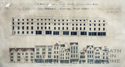 Rebuilding the east side of Stall Street - Allen & Parsons - before & after elevations Sept 1805