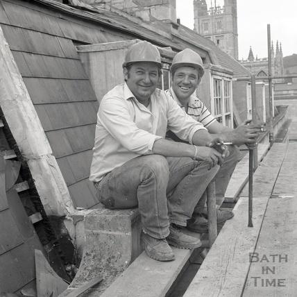 Up on the roof, Bath Street, Bath August 1986