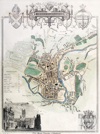 Map of the City of Bath 1837