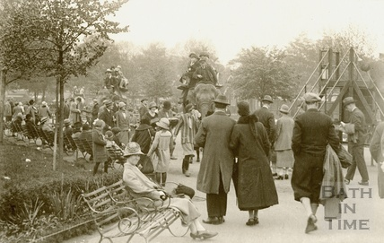 Elephants in a park in London 1926
