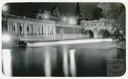 Pulteney Bridge and Grand Parade, Bath c.1930s