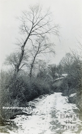 A snowy Swainswick Lane c.1920s?