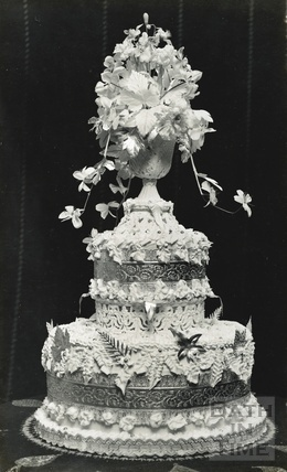 A celebratory cake, possibly the photographers own? c.1930s