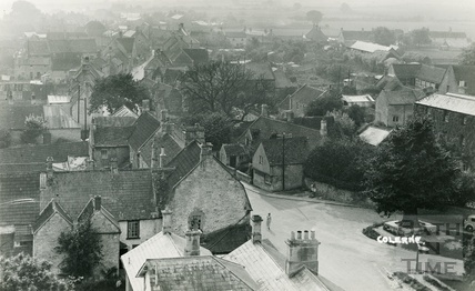 View of Colerne from the church tower c.1935