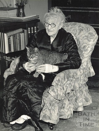Madam Sarah Grand and her cat Bobbie June 10th 1941