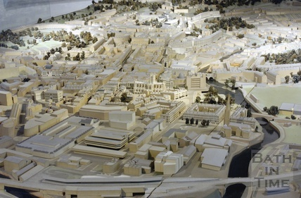 The Bath model, Southgate, Bath Spa station, city centre