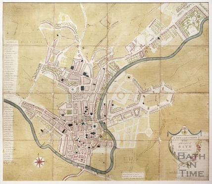 From the New and Accurate Plan of the City of Bath to the present year 1800