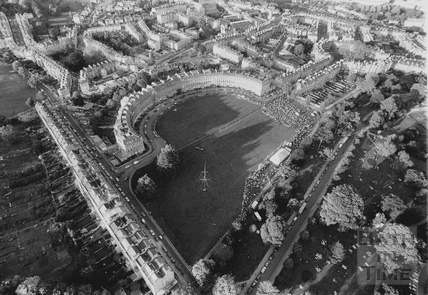 1991 Aerial view of the Royal Crescent, 28 May
