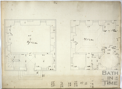 John Wood's Lilliput castle floor plan c.1737