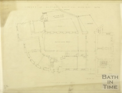 Survey of existing municipal buildings - old technical college - ground floor plan - AJ Taylor & AC Fare December 1937